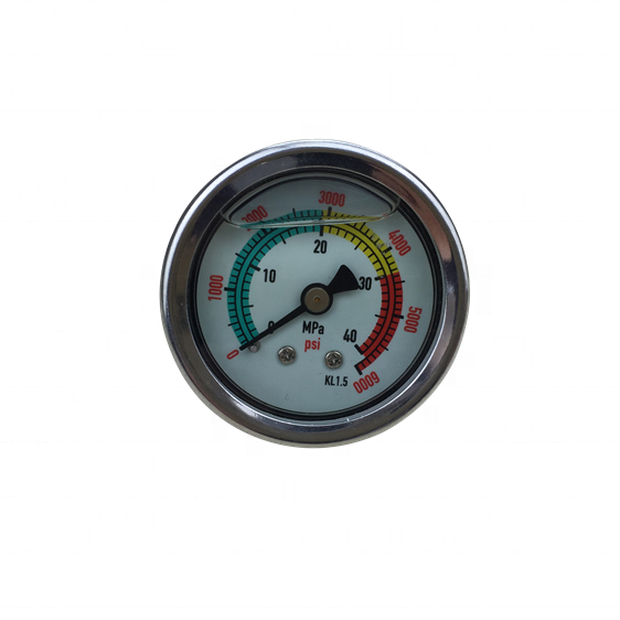HF Hydraulic 0-6000psi 0-40mpa 400 bar high pressure water pump pressure Gauge