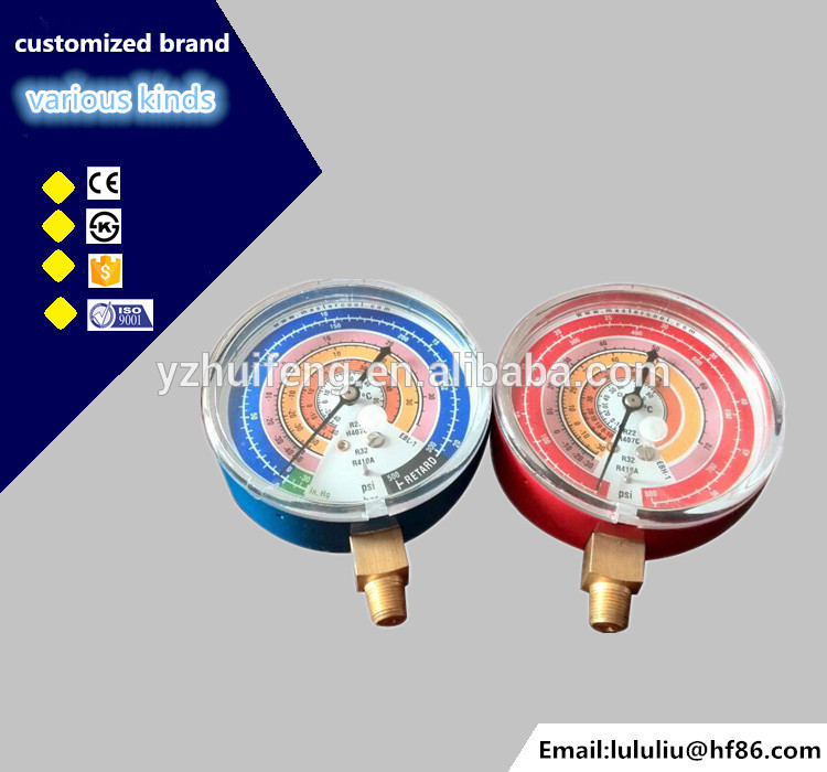 HF Air Conditioning 68mm R22 R410A Refrigeration 0-55bar/800psi Manifold Pressure Gauge