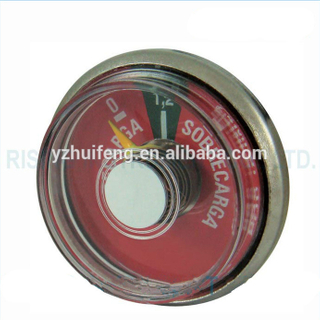 HF Fire Extinguisher Pressure Gauge Fire-fight Stainless Steel Case