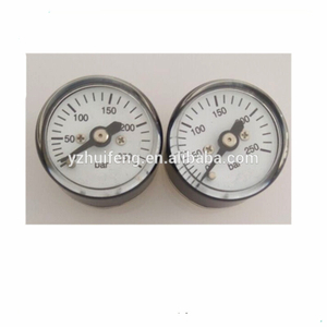 HF Yangzhou Reliable 23.5mm 0-250bar Safety Gas Safety Small Tiny Pressure Gauge For Airgun