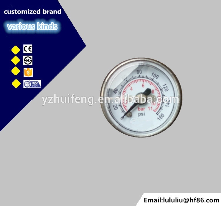 HF Y25 Miniature micro Pressure Gauge With Plastic Case for Sprayer
