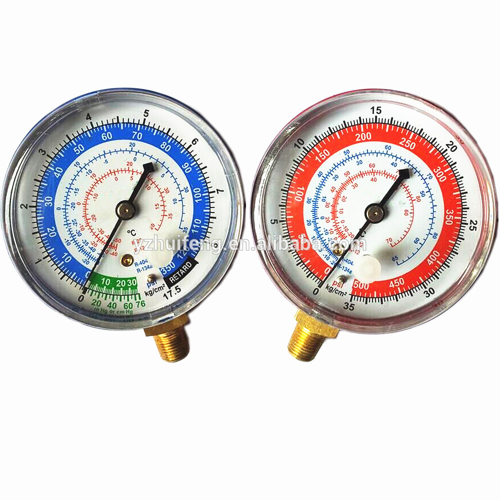HF R134a R22 R404 Refrigeration Pressure Gauge Auto Air Conditioning High Low Manifold Gauge Low Pressure