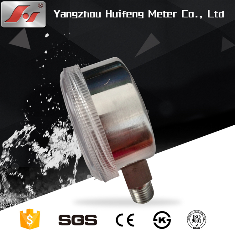 HF Y50 high quality all stainless steel use no oil regulator Pressure Gauge manometer